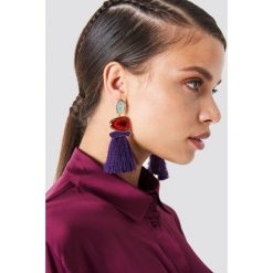 Trendyol Kolczyki z chwostami i kamieniami - Purple. Fioletowe kolczyki damskie marki Trendyol, metalowe. Za 60,95 zł.