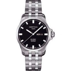 PROMOCJA ZEGAREK CERTINA C014.407.11.051.00. Czarne zegarki męskie CERTINA, ze stali. W wyprzedaży za 2283,60 zł.