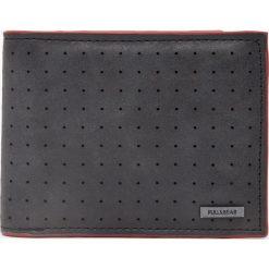 Portfele męskie: Dwukolorowy portfel ze sztucznej skóry z dziurkowaniem
