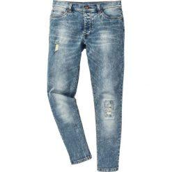 """Dżinsy ze stretchem Skinny bonprix niebieski """"moon"""". Niebieskie jeansy męskie regular marki bonprix, z jeansu. Za 54,99 zł."""