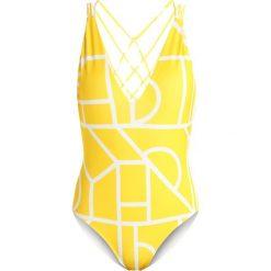 Stroje kąpielowe damskie: Lavish Alice ABSTRACT MACRAME Kostium kąpielowy yellow