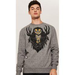 Bluza z nadrukiem - Szary. Czerwone bluzy męskie rozpinane marki KALENJI, m, z elastanu, z długim rękawem, długie. Za 89,99 zł.