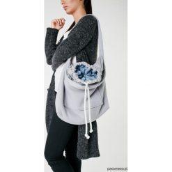 Torba dzianinowa szaro-jeansowa. Szare torebki klasyczne damskie Pakamera, z bawełny, duże. Za 93,00 zł.