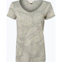 Esprit Casual - T-shirt damski z dodatkiem lnu, zielony. Zielone t-shirty damskie Esprit Casual, s, z nadrukiem, z bawełny. Za 69,95 zł.