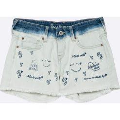 Pepe Jeans - Szorty dziecięce Trinket 122-180 cm. Czarne szorty jeansowe damskie marki Mayoral, w paski, casualowe. W wyprzedaży za 179,90 zł.