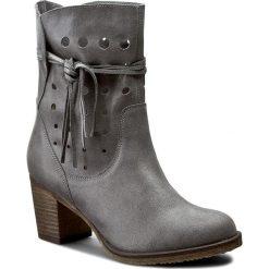 Botki KABAŁA - 100-20-444-00-01-00 Szary. Szare buty zimowe damskie marki Kabała, ze skóry, na obcasie. W wyprzedaży za 259,00 zł.