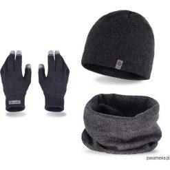 Czapki zimowe męskie: Zestaw zimowy czapka + komin + rękawiczki mulina