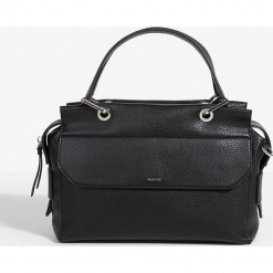 Parfois - Torebka. Czarne kuferki damskie marki Parfois, w paski, z materiału, do ręki, średnie. Za 139,90 zł.