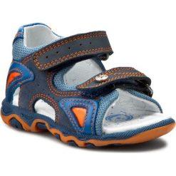 Sandały męskie skórzane: Sandały BARTEK – 81455-156 Niebieski