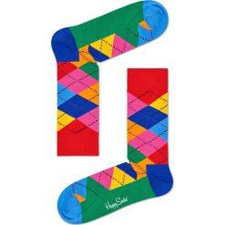 Happy Socks - Skarpetki Argyle. Czarne skarpetki damskie marki Happy Socks, z bawełny. W wyprzedaży za 29,90 zł.