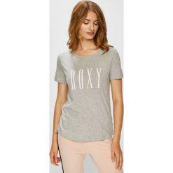 Roxy - Top. Szare topy damskie marki Roxy, s, z nadrukiem, z bawełny, z okrągłym kołnierzem. Za 79,90 zł.