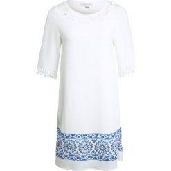Sukienki hiszpanki: Cortefiel TUNICA TROQUELADA Sukienka letnia white
