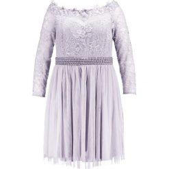 Sukienki hiszpanki: Little Mistress Curvy Lace Prom Sukienka koktajlowa grey