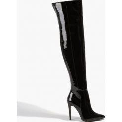 Czarne lakierowane kozaki na szpilce. Czarne buty zimowe damskie Badura, z lakierowanej skóry, na szpilce. Za 1043,00 zł.