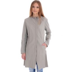 Płaszcze damskie pastelowe: Płaszcz skórzany - CARA LG LGREY