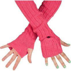 Rękawiczki damskie: Art of Polo Rękawiczki damskie długie - łapki różowe (rk13155)
