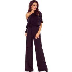 Kombinezony eleganckie: Kombinezon bluzowany- elegancki kombinezon z efektownym wiązaniem