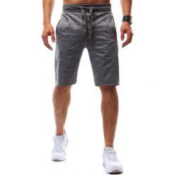 Spodenki i szorty męskie: Krótkie spodenki dresowe męskie szare (sx0502)