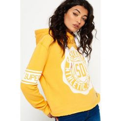 Bluzy damskie: Superdry COLLEGE  Bluza z kapturem yellow