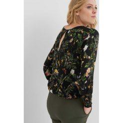 Bluzki asymetryczne: Bluzka bombka w kwiaty