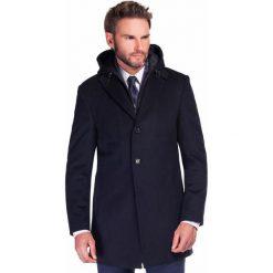 Płaszcz EUSEBIO PSGS000032. Czarne płaszcze na zamek męskie Giacomo Conti, m, z kaszmiru, klasyczne. Za 999,00 zł.