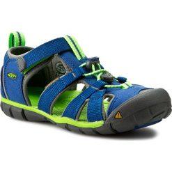 Sandały KEEN - Seacamp II Cnx 1014479 True Blue/Jasmine Green. Niebieskie sandały chłopięce Keen, z materiału. W wyprzedaży za 189,00 zł.