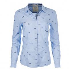 Timeout Koszula Damska L, Niebieski. Niebieskie koszule wiązane damskie Timeout, l, z materiału, klasyczne, z klasycznym kołnierzykiem. Za 169,00 zł.