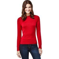 Sweter w kolorze czerwonym. Czerwone swetry klasyczne damskie marki Vincenzo Boretti, xs, z dzianiny, ze stójką. W wyprzedaży za 152,95 zł.