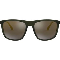 Emporio Armani - Okulary EA4124.57254T.57. Szare okulary przeciwsłoneczne męskie marki Emporio Armani, l, z nadrukiem, z bawełny, z okrągłym kołnierzem. Za 599,90 zł.