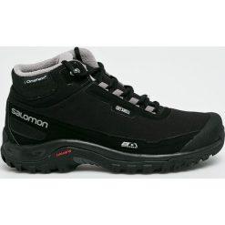 Salomon - Buty Shelter Cs Wp. Szare buty trekkingowe męskie marki Salomon, z gore-texu, na sznurówki, outdoorowe, gore-tex. Za 569,90 zł.