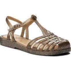 Rzymianki damskie: Sandały MELISSA – Aranha Quadrada Ad 31953 Brown/Silver Glitter 03679