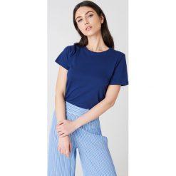 NA-KD Basic T-shirt basic - Blue,Navy. Różowe t-shirty damskie marki NA-KD Basic, z bawełny. Za 40,95 zł.