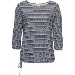 Tunika drukowana, rękawy 3/4 bonprix niebieski z nadrukiem. Niebieskie tuniki damskie z nadrukiem bonprix. Za 54,99 zł.