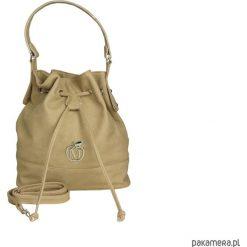 Torebki i plecaki damskie: MANZANA stylowy worek torebka – beżowy