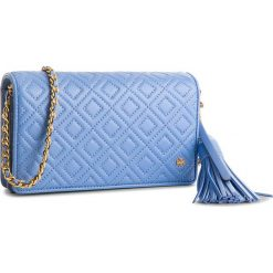 Torebka TORY BURCH - Fleming Flat Wallet Cross-Body 46449 Larkspur 407. Niebieskie torebki klasyczne damskie Tory Burch, ze skóry. Za 1509,00 zł.