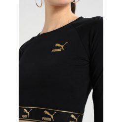 Bluzki asymetryczne: Puma CROPPED  Bluzka z długim rękawem black