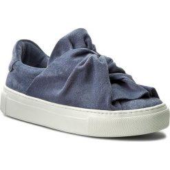 Półbuty BRONX - 65913-CS 2004 Jeans Blue. Czarne półbuty damskie na koturnie marki Bronx, z materiału. W wyprzedaży za 309,00 zł.