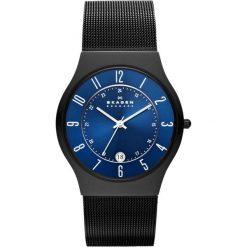 Zegarek SKAGEN - Grenen T233XLTMN Black/Black. Czarne zegarki męskie Skagen. W wyprzedaży za 549,00 zł.