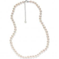 Perłowy naszyjnik w kolorze białym - dł. 42 cm. Żółte naszyjniki damskie marki METROPOLITAN, pozłacane. W wyprzedaży za 159,95 zł.