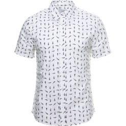 Koszule męskie na spinki: Burton Menswear London FERN PRINT Koszula white