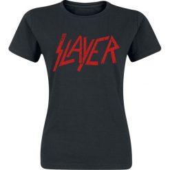 Slayer Logo Koszulka damska czarny. Czarne bluzki asymetryczne Slayer, l. Za 74,90 zł.