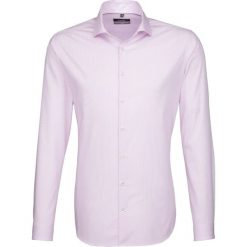 Koszule męskie na spinki: Koszula – X-Slim – w kolorze jasnoróżowo-białym