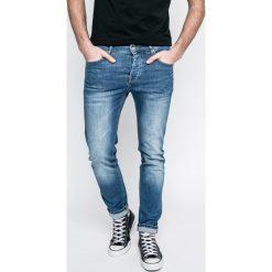Review - Jeansy Simon. Niebieskie jeansy męskie slim Review, z bawełny. W wyprzedaży za 139,90 zł.
