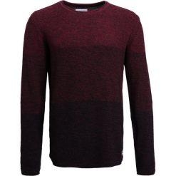 Swetry klasyczne męskie: Lindbergh GRADIENT  Sweter black/bordeaux
