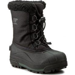 Buty zimowe chłopięce: Śniegowce SOREL – Childrens Cumberland NC1886 Black 010