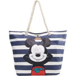Shopper bag damskie: Codello SHOPPER RELAXING MICKEY BEACH BAG Torba na zakupy navy blue