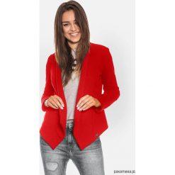 Czerwona otwarta bluza damska. Niebieskie bluzy damskie marki Pakamera, z bawełny. Za 149,00 zł.