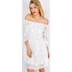 Sukienki: Koronkowa sukienka hiszpanka ze ściągaczem