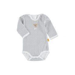 Steiff  Baby Body z długim rękawem bright white - biały. Białe body niemowlęce marki Steiff, z bawełny, z długim rękawem. Za 57,00 zł.