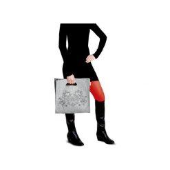 BASIC+ torba z haftem. Szare torebki klasyczne damskie Boogie, z haftami, z wełny, zdobione, z haftem. Za 230,00 zł.